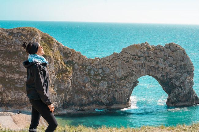 UK, Dorset, Me at Durdle Door