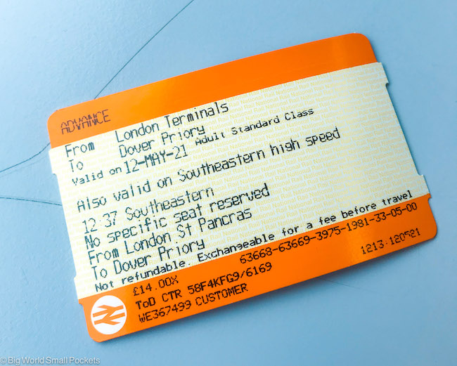 England, London to Kent, Train Ticket