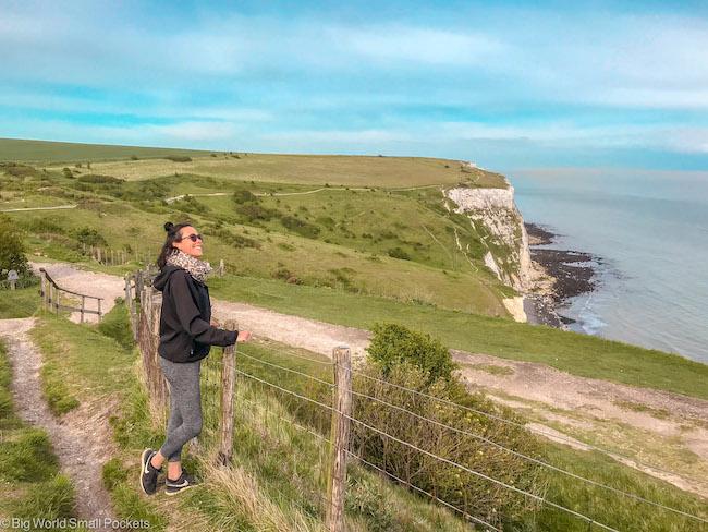 England, White Cliffs of Dover, Me
