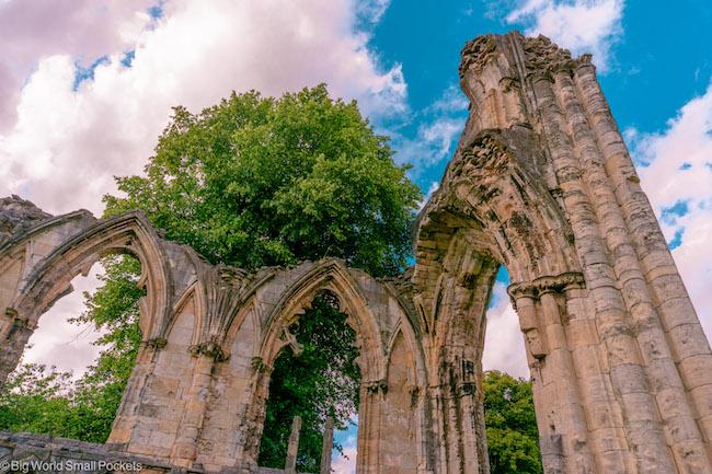 England, York, Abbey Gardens