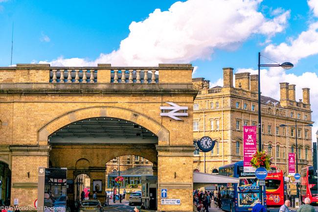 England, York, Train Station