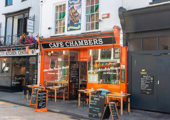 UK, Canterbury, Cafe Chambers