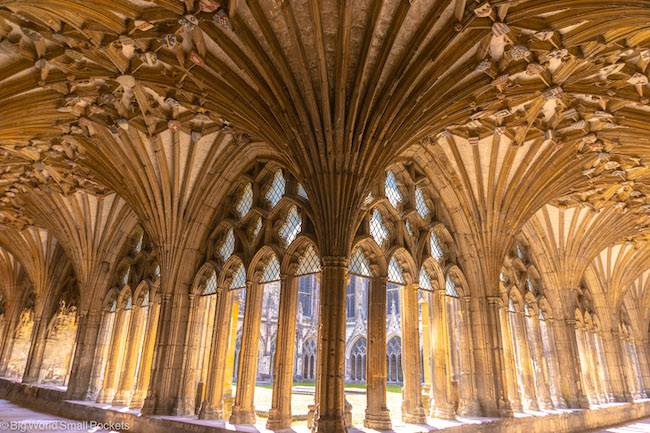 UK, Canterbury, Cathedral Cloister